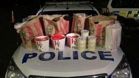 KFC food seized by police.