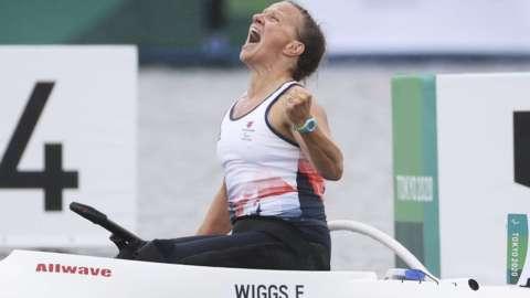 Emma Wiggs celebrates