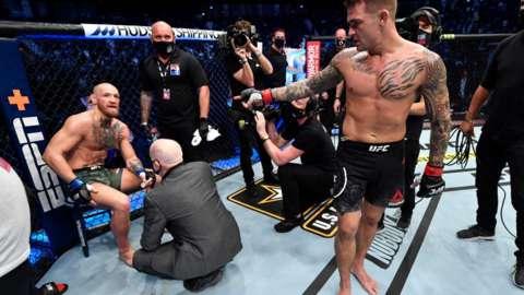 Conor McGregor loses too Dustin Poirier at UFC 257 in Abu Dhabi