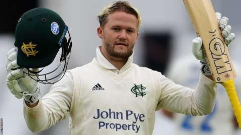 Ben Duckett in action for Nottinghamshire