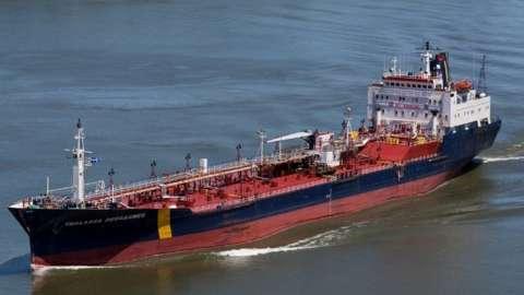 Asphalt and bitumen tanker MV Asphalt Princess, previously named the Thalassa Desgagnes
