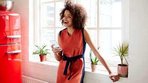 Happy black women in the office