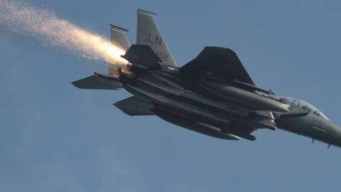 Maj Grant Thompson's F-15E Strike Eagle