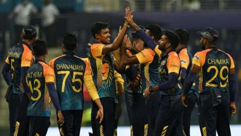Sri Lanka celebrate wicket against Ireland