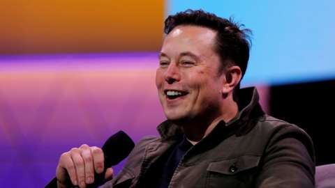 Image shows Elon Musk