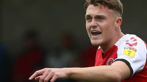 Harry Souttar in action for Fleetwood Town