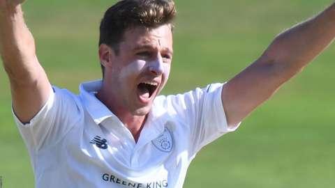 Hampshire seam bowler Brad Wheal