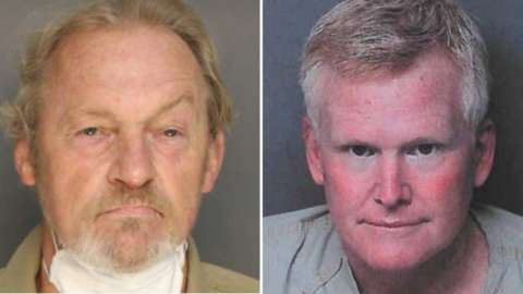 Alex Murdaugh (right) allegedly paid Curtis Edward Smith to shoot him in the head