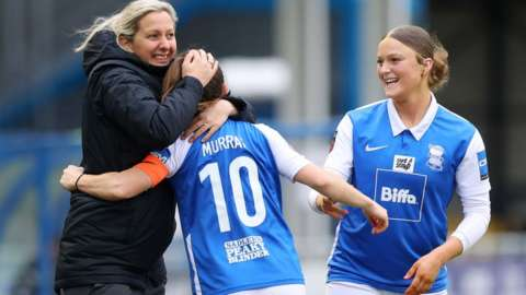 Birmingham womens boss Carla Ward marshalled the players' approach to the Blues board