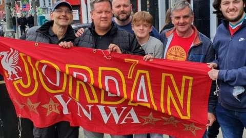Banner paying tribute to Jordan Banks