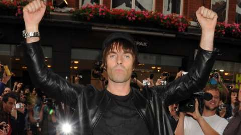 Liam Gallagher attends the launch party for new store Pretty Green on July 29, 2010 in London