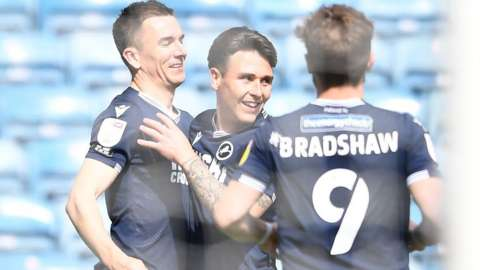 Millwall players celebrate