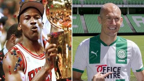 Michael Jordan and Arjen Robben