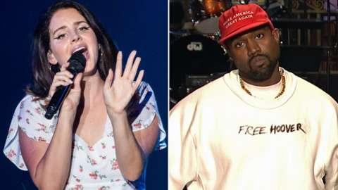 Lana Del Rey and Kanye West