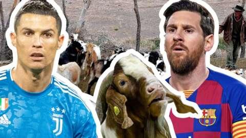 Cristiano Ronaldo, goat, Lionel Messi