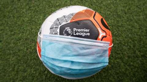 Mask on a football