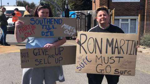 Protests at Southend United