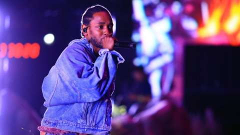 Kendrick Lamar at Coachella in April