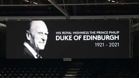 A tribute to Prince Philip at Craven Cottage