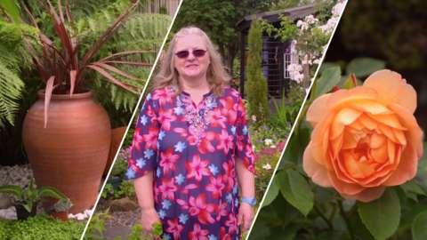 Lynn Cameron in her garden