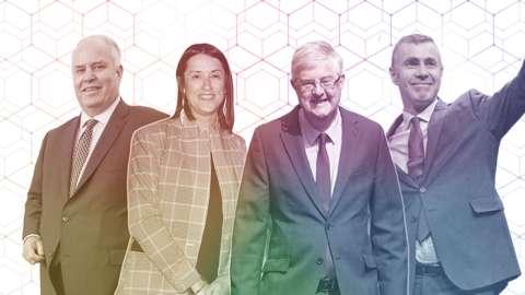 Andrew RT Davies, Jane Dodd, Mark Drakeford and Adam Price