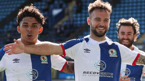 Blackburn Rovers celebrate