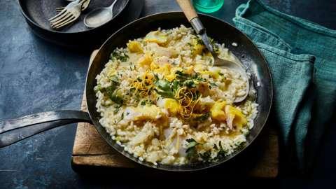 Smoked haddock risotto