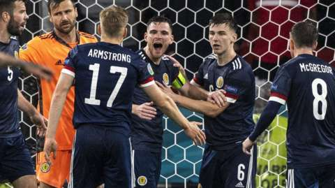 Scotland drew 0-0 with England to keep their hopes of progress alive
