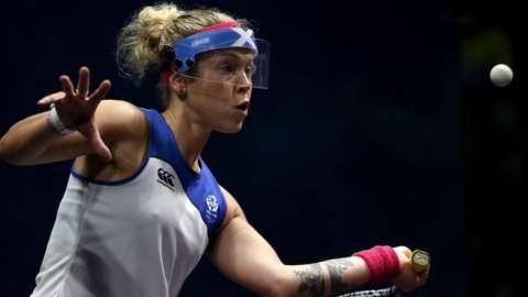 Scottish squash champion Lisa Aitken