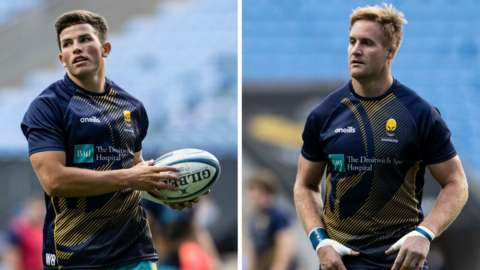 Will Butler (left) and GJ Van Velze will miss Worcester Warriors' last two games against Saracens and Sale