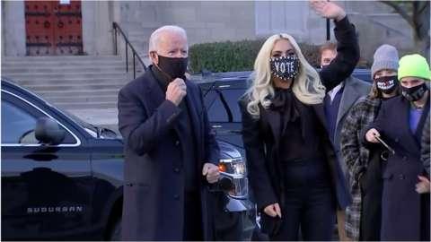 Lady Gaga and Joe Biden