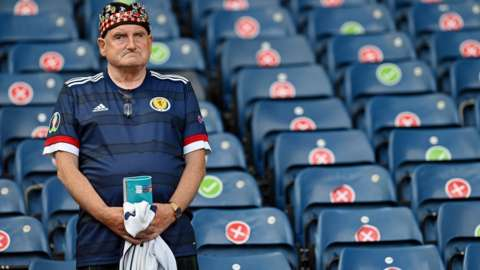 Gutted Scotland fan