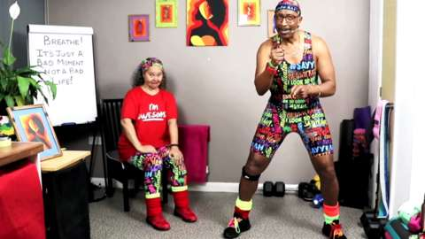 Mr Motivator doing a workout