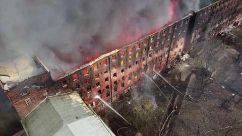Blaze at St Petersberg factory