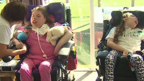 disabled sister Katie and Kelly