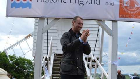 Sam Smith opening the windmill