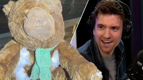 Arthur the teddy and Greg James
