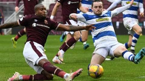 Hearts play Morton on Tuesday, 20 April