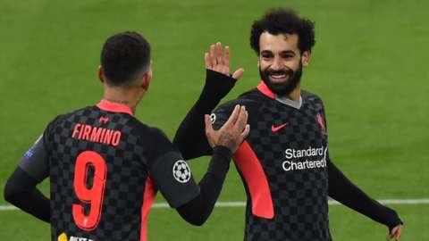 Roberto Firmino and Mohamed Salah