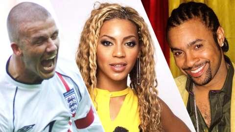 David Beckham, Beyonce and Shaggy