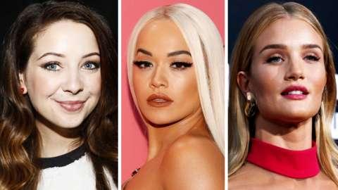 Zoe Sugg, Rita Ora and Rosie-Huntington-Whiteley