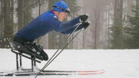 Scott Meenagh on his skis