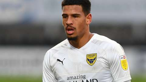 Marcus McGuane in action for Oxford United
