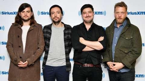 Mumford & Sons visit SiriusXM Studios on September 26, 2018 in New York City.
