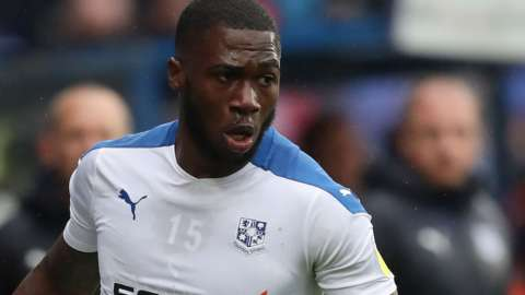 Corey Blackett-Taylor in action for Tranmere