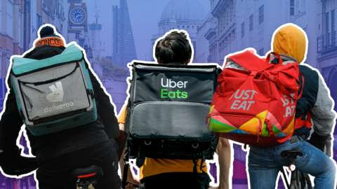 JustEat, UberEats and Deliveroo riders
