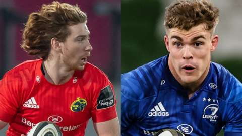 Munster's Ben Healy and Garry Ringrose of Leinster