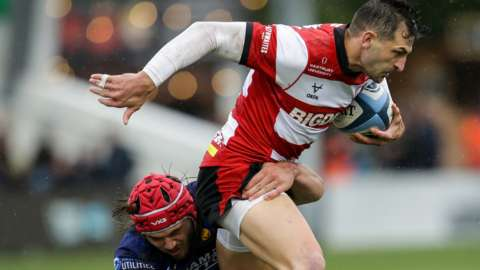 Jonny May in action for Gloucester