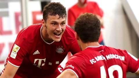 Bayern Munich celebrate their winner
