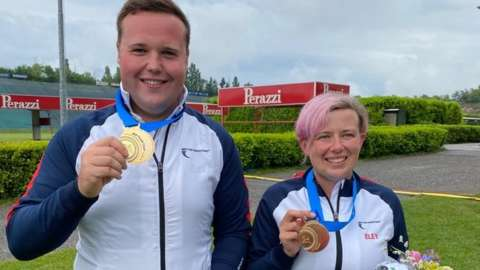 Great Britain's Matthew Coward-Holley and Kirsty Hegarty